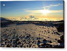 Acrylic Print featuring the photograph Nearing Mauna Kea Summit by Scott Rackers