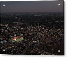 Nebraska Memorial Stadium And Campus Acrylic Print by PRANGE Aerial Photography