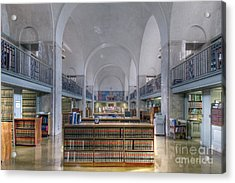 Acrylic Print featuring the photograph Nebraska State Capitol Library by Art Whitton