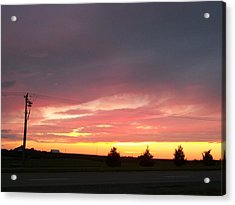 Nebraska Sunset Acrylic Print by Adam Cornelison
