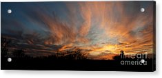 Acrylic Print featuring the photograph Nebraska Sunset by Art Whitton