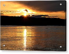 Acrylic Print featuring the photograph Nebraska Sunset by Elizabeth Winter