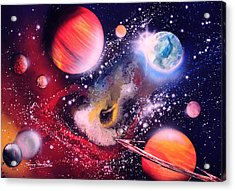 Nebula Guards Acrylic Print by Tony Vegas