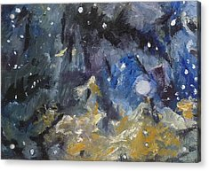Acrylic Print featuring the painting Nebula by Jessmyne Stephenson