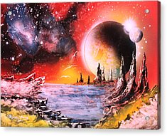 Nebula Storm Acrylic Print by Tony Vegas