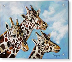 Acrylic Print featuring the painting Neck And Neck by Rae Andrews