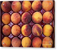 Nectarines - 5d17068 Acrylic Print by Wingsdomain Art and Photography