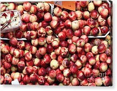 Nectarines - 5d17905 Acrylic Print by Wingsdomain Art and Photography