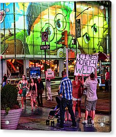 Need Money For Weed Acrylic Print by Paul Ward