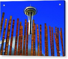 Needle In A Haystack Acrylic Print by Randall Weidner
