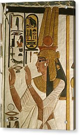 Nefertari Tomb Scenes, Valley Acrylic Print by Kenneth Garrett