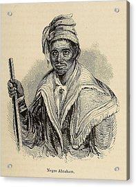 Negro Abraham Was An African Seminole Acrylic Print by Everett