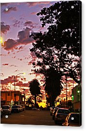 Neighborhood Silhouette  Acrylic Print by D Wash