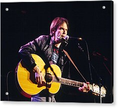 Neil Young 1986 Acrylic Print by Chris Walter