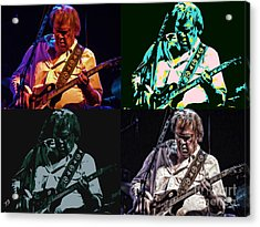 Neil Young Pop Acrylic Print by Tommy Anderson