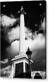 nelsons column in Trafalgar Square London England UK United kingdom Acrylic Print by Joe Fox