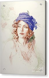 Neoclassical Drawing Acrylic Print
