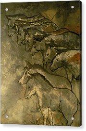 Neolithic Horses Acrylic Print by John Connaughton
