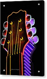 Neon Bridge Acrylic Print