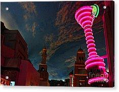 Neon City Acrylic Print by Billie-Jo Miller
