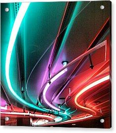 #neon #light #tubular #lighting Acrylic Print