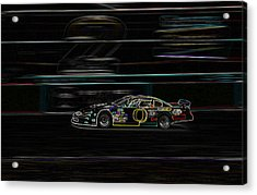 Acrylic Print featuring the photograph Neon Nascar by Tyra  OBryant