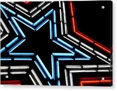 Neon Star Acrylic Print by Darren Fisher