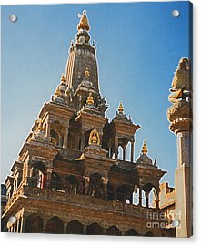 Nepal Temple 2 Acrylic Print by First Star Art