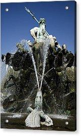 Neptune Fountain Acrylic Print by RicardMN Photography
