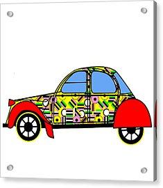 Nerds Car - Virtual Cars Acrylic Print by Asbjorn Lonvig