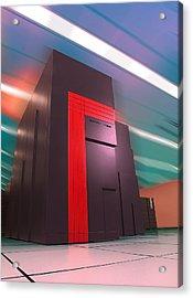 Nersc Supercomputer Acrylic Print by Lawrence Berkeley National Laboratory