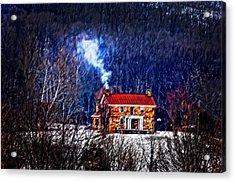 Nestled In For The Winter Acrylic Print by Randall Branham