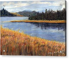 Nestucca River And Bay  Acrylic Print
