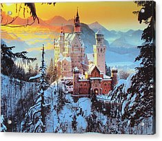 Neuswanstein Winter Acrylic Print