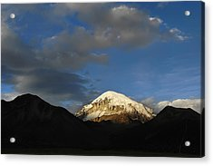 Nevado Sajama At Sunset. Republic Of Bolivia.  Acrylic Print by Eric Bauer