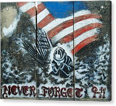 Never Forget 9-11 Acrylic Print by Unknown