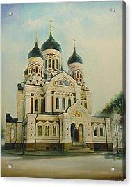 Nevsky Catedral Acrylic Print by Ahto Laadoga