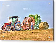 New Bale Acrylic Print by Barry Jones