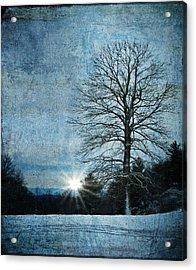 New Blue Sunrise Acrylic Print by Christine Annas