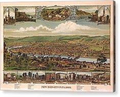 New Brighton Pennsylvania 1883 Acrylic Print by Donna Leach