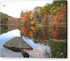 New England Autumn Acrylic Print by Jf Halbrooks