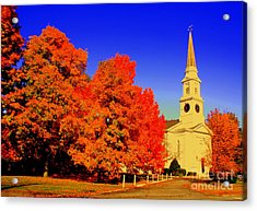 New England Church  Acrylic Print