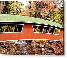 New England Covered Bridge Acrylic Print by Tony Craddock