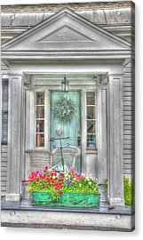 New England Doorway Acrylic Print by Lisa Goddard