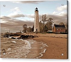 New Haven Lighthouse Acrylic Print by Frank Garciarubio