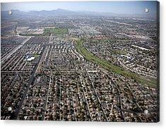 New Homes In Las Vegas Nevada Built Acrylic Print by Everett