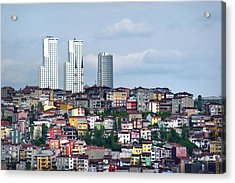 New Istanbul Acrylic Print by Cheminsnumeriques