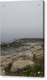 New London Ledge Light In The Dense Fog Acrylic Print by Todd Gipstein
