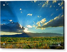 New Mexico Desert Acrylic Print by Betty LaRue