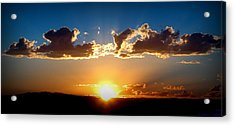 New Mexico Late Summer Skies Acrylic Print by Aaron Burrows
